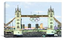 Tower Bridge art, Canvas Print