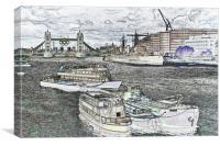 River Thames Art, Canvas Print