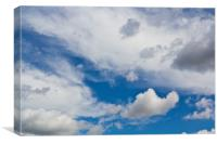 English Summer Sky, Canvas Print
