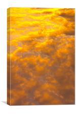 Tangerine sky, Canvas Print