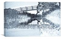 Bridge Across The River, Canvas Print