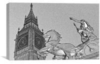 Big Ben And Boadicea, Canvas Print