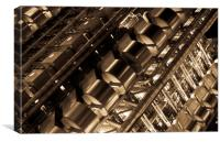 Lloyd's Building London Abstract, Canvas Print