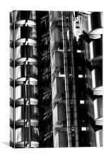 Lloyd's Building London Abstract, Canvas Print