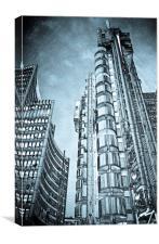 Lloyd's Building London, Canvas Print