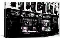 The Sherlock Holmes Pub, Canvas Print