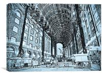 Hays Galleria London Sketch, Canvas Print