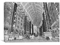 Hays Galleria London Sketch, Canvas Print