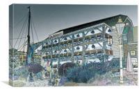 The Dickens Inn Pub London, Canvas Print
