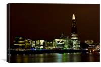 The Shard and Southbank London, Canvas Print