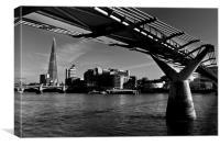 The Millenium Bridge, Canvas Print