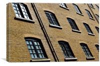 Butlers Wharf Windows, Canvas Print