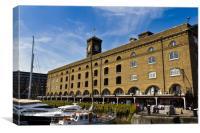 St Katherines Dock london, Canvas Print
