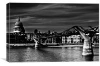 The Millennium Bridge, Canvas Print
