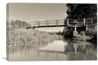 The Ambling River, Canvas Print