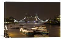 The River Thames, Canvas Print