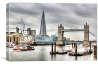 The River Thames, Canvas Print