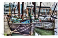 River Thames Sailing Barges., Canvas Print