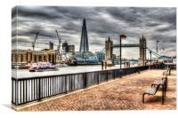 River Thames View, Canvas Print