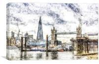 The River Thames Art, Canvas Print