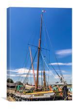 River Thames Sailing Barge, Canvas Print