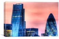 The Gherkin and the Cheese Grater London, Canvas Print