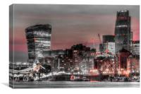 City of London at night, Canvas Print
