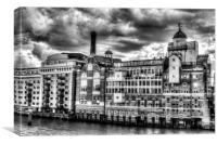 Butlers Wharf London, Canvas Print