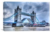 Tower bridge and the Waverley , Canvas Print