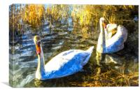 Swan Art, Canvas Print