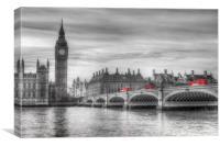 Westminster Bridge and Big Ben, Canvas Print