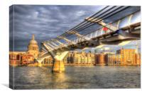 The Millennium Bridge London , Canvas Print
