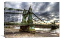 Hammersmith Bridge London, Canvas Print