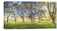 Buckingham Palace Art Panorama, Canvas Print