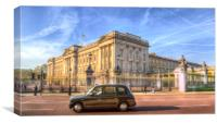 London Taxi And Buckingham Palace , Canvas Print