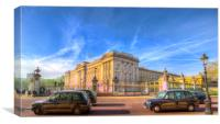 Buckingham Palace And London Taxis, Canvas Print