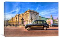 Taxi Buckingham Palace, Canvas Print