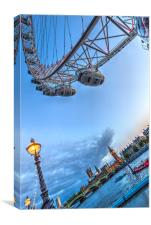 The London Eye and Westminster, Canvas Print