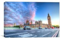 Westminster Bridge Early Evening, Canvas Print
