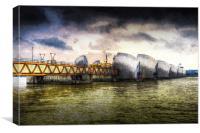 The Thames Barrier London Art, Canvas Print