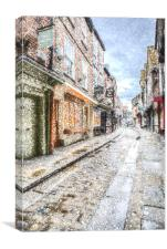 The Shambles York Snow Art, Canvas Print