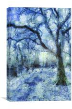 The Blue Forest Art, Canvas Print