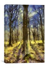 Vincent Van Gogh Forest Art, Canvas Print