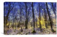 Sunset Forest Van Gogh, Canvas Print