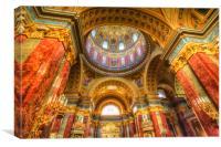 St Stephen's Basilica Budapest, Canvas Print