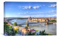 Budapest Cityscape, Canvas Print