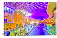 Kings Cross Rail Station London Pop art, Canvas Print