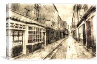 The Shambles York Vintage, Canvas Print