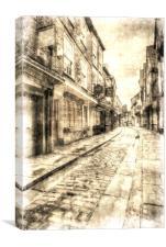 The York Shambles Vintage, Canvas Print