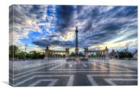 Heroes Square Budapest Hungary , Canvas Print